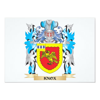 """Knox Coat of Arms - Family Crest 5"""" X 7"""" Invitation Card"""