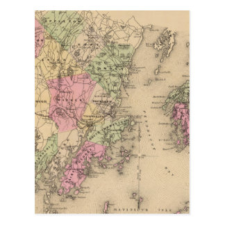 Knox County, Maine Postcard