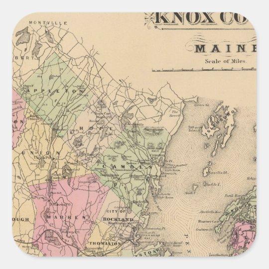Knox County, Maine Square Sticker