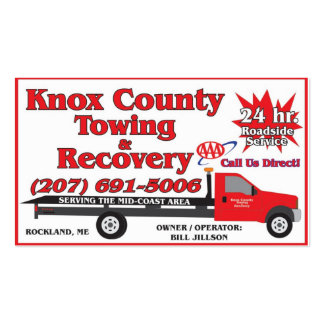 Knox County Towing AAA Business Card Template
