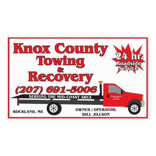 Knox County Towing Business Cards