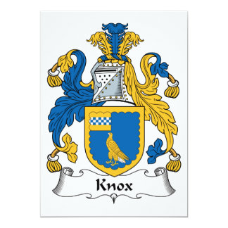 "Knox Family Crest 5"" X 7"" Invitation Card"