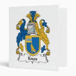 Knox Family Crest Vinyl Binders