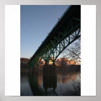 Knoxville Bridge Canvas Print