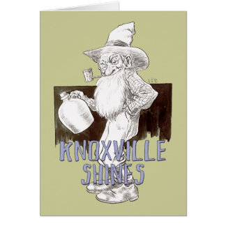 Knoxville brilla tarjeta de felicitación