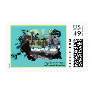 Knoxville postcard postage stamp