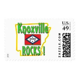 Knoxville Rocks ! (green) Stamp
