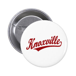 Knoxville script logo in red distressed pins
