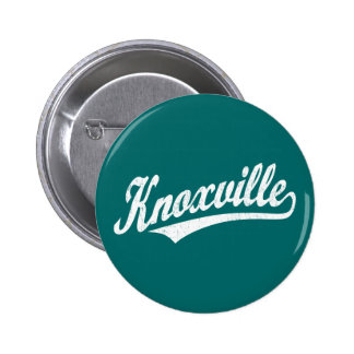 Knoxville script logo in white distressed pin