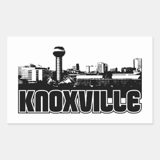 Knoxville Skyline Rectangle Sticker