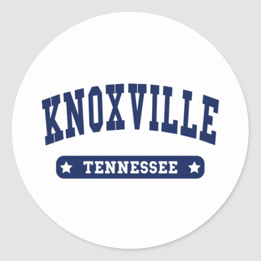 Knoxville Tennessee College Style tee shirts Round Sticker