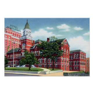 Knoxville Tennessee Knox County Court House Poster