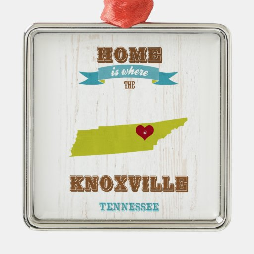 Knoxville, Tennessee Map – Home Is Where Christmas Tree Ornaments