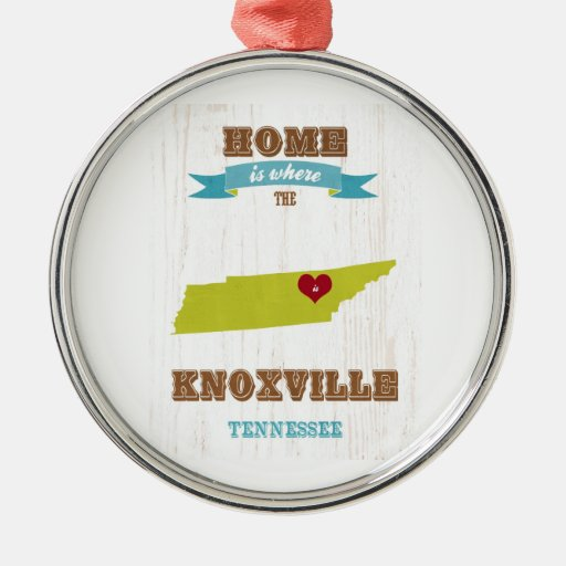 Knoxville, Tennessee Map – Home Is Where Ornament