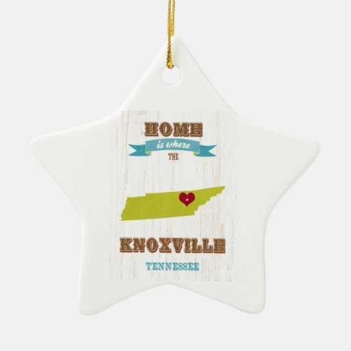 Knoxville, Tennessee Map – Home Is Where Christmas Tree Ornament