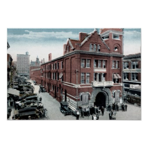 Knoxville Tennessee Market Square Poster