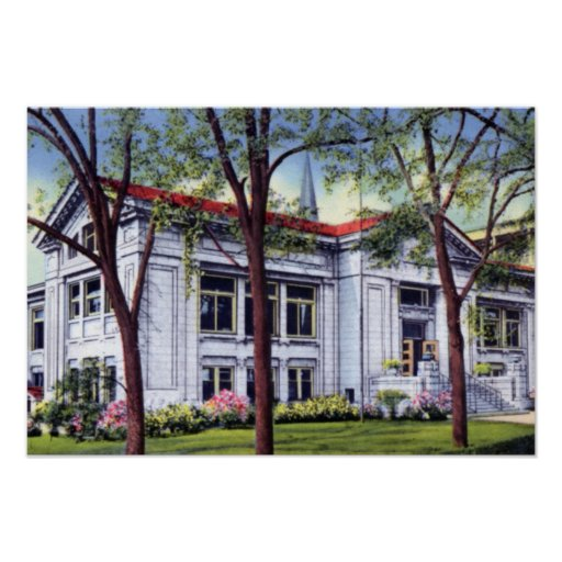Knoxville Tennessee McGhee Library Poster