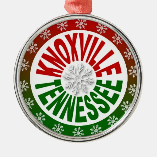 Knoxville Tennessee red green ornament