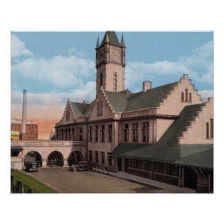 Knoxville Tennessee Southern Railroad Depot Poster