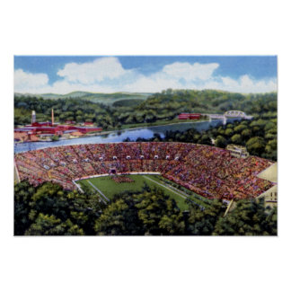 Knoxville Tennessee Stadium Poster