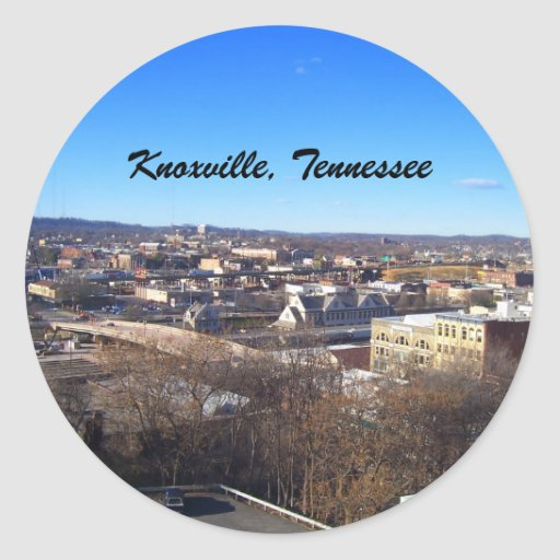 Knoxville, Tennessee Round Stickers