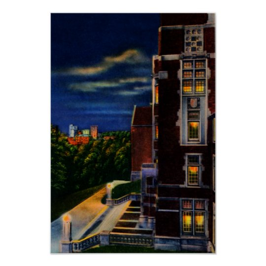 Knoxville Tennessee University at Night Poster