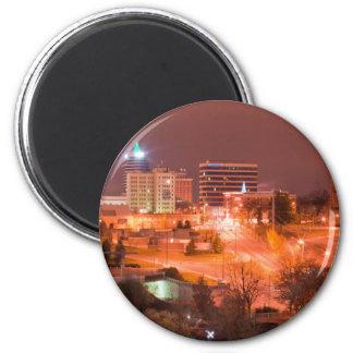 knoxville tn at night fridge magnet