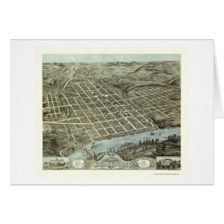 Knoxville, TN Panoramic Map - 1871 Card