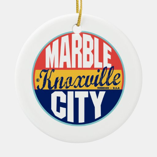 Knoxville Vintage Label Christmas Ornaments