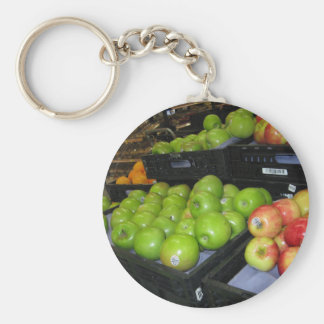 Knoxville zoo 031.JPG-apples fruit for decor Basic Round Button Keychain