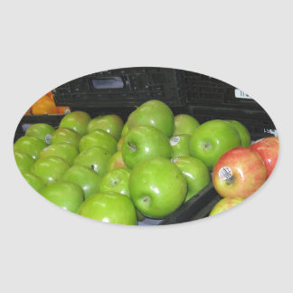 Knoxville zoo 031.JPG-apples fruit for decor Oval Sticker