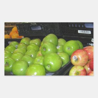 Knoxville zoo 031.JPG-apples fruit for decor Rectangular Sticker