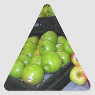 Knoxville zoo 031.JPG-apples fruit for decor Triangle Sticker