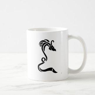 Knucker el dragón negro taza de café