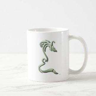 Knucker the Metallic Green Dragon Coffee Mug