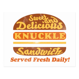 Knuckle Sandwich Design Postcard