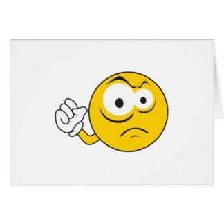 Knuckle Sandwich  Smiley Face Card