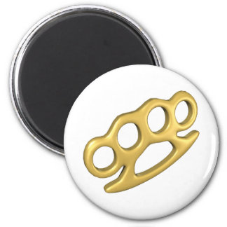 Knuckle Up 2 Inch Round Magnet