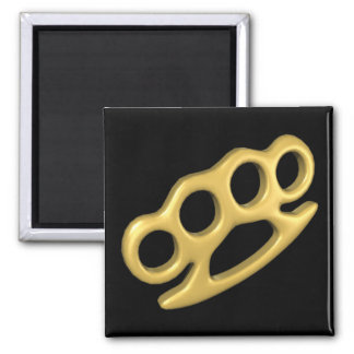 Knuckle Up 2 Inch Square Magnet