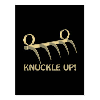 Knuckle Up Postcard