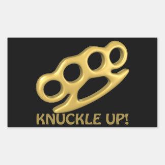 Knuckle Up Rectangular Sticker