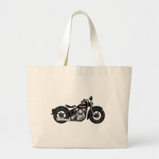 Knucklehead Motorcycle Large Tote Bag