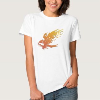 Knurled Flaming Eagle Tee Shirt