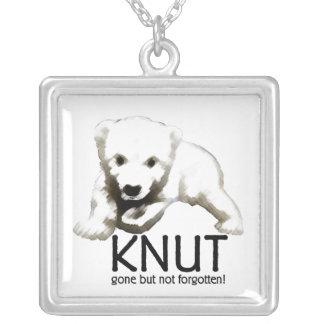 Knut Polar Bear Square Pendant Necklace