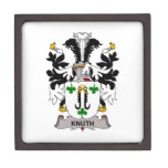 Knuth Family Crest Premium Trinket Boxes