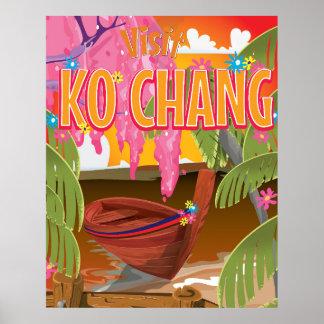 Ko Chang Thailand travel poster