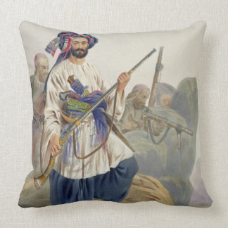 Ko-i-Staun Foot Soldiery in Summer Costume, Active Throw Pillow