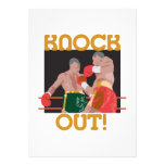 KO knock out boxing vector design Invitations