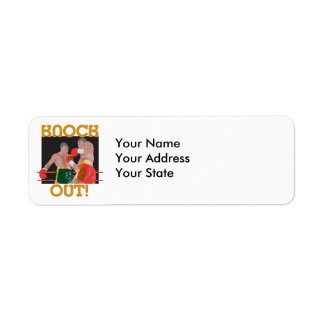 KO knock out boxing vector design Label