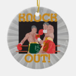 KO knock out boxing vector design Christmas Tree Ornaments